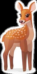 Red Fawn Deer Sticker