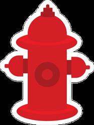 Red Fire Extinguisher Sticker