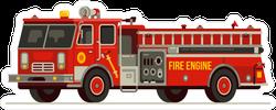Red Fire Truck Emergency Vehicle Sticker
