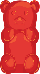 Red Gummy Bear Jelly Candy Sticker