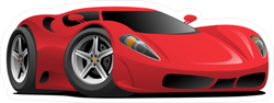 Red Hot European Style Sports Car Sticker