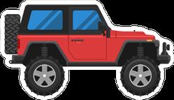 Red Jeep Sticker