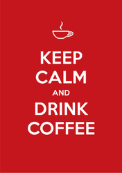 Red Keep Calm And Drink Coffee Sticker