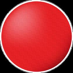 Red Kickball Dodgeball Ball Illustration Icon Sticker