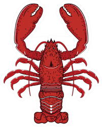 Red Lobster Illustration Sticker
