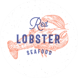 Red Lobster Seafood Retro Print Sticker