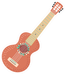 Red Mexican Guitar Sticker