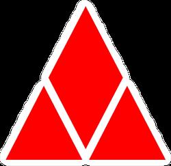 Red Stacked Diamond Sticker