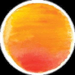 Red Watercolor Sun Sticker