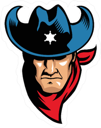 Red White and Blue Sheriff  Cowboy Sticker