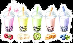 Refreshing Fruit Milky Bubble Sticker