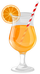 Refreshing Orange Cocktail Sticker