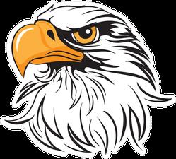 Regal Eagle Head Sticker