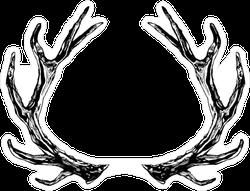 Reindeer Antlers Sticker