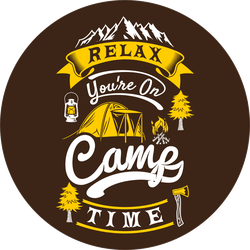 Relax You Are On Camp Time Sticker