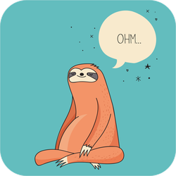 Relaxing Meditating Sloth Sticker
