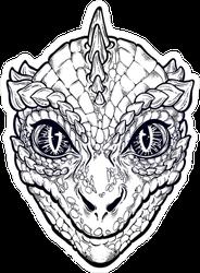 Reptilian Alien Sticker