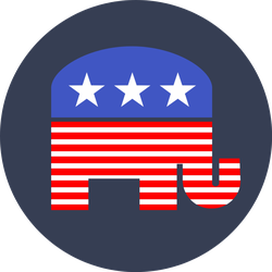 Republican Elephant Circle Sticker