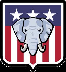 Republican Party Election Elephant Sticker