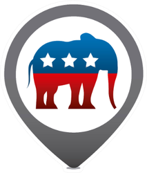 Republican Party Elephant Usa Icon Sticker