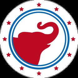 Republican Political Party Elephant Sticker