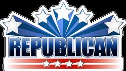 Republican Stars and Stripes Sticker