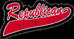 Republican Swoosh Sticker