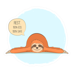 Resting Sloth Sticker