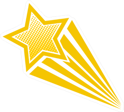 Retro Cartoon Pop Art Star Sticker