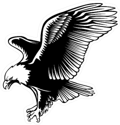Retro Eagle Sticker