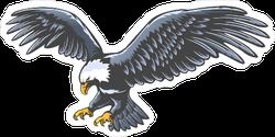 Retro Flying Blue Eagle Sticker