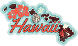 Retro Hawaii Sticker