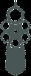 Retro Pistol Silhouette Front View Sticker