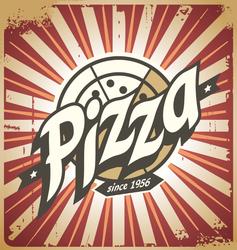 Retro Pizza Sign Sticker