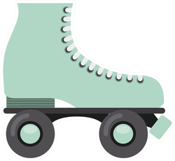 Retro Rollerblade Sticker