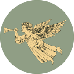 Retro Style Christmas Angel Sticker
