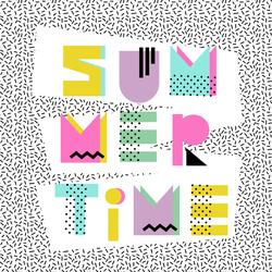 Retro Summer Time Sticker
