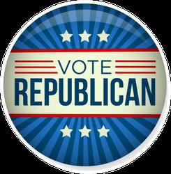 Retro Vote Republican Campaign Button Sticker