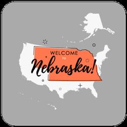 Retro Welcome To Nebraska Sticker