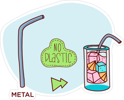 Reusable Drinking Straw Sticker