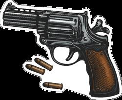 Revolver and Ammo Sticker