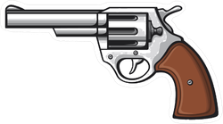 Revolver Handgun Sticker