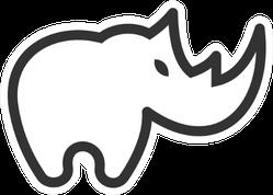 Rhino Logo Outline Sticker