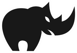Rhino Logo Sticker