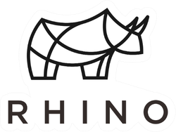 Rhino Logo With Lettering Sticker