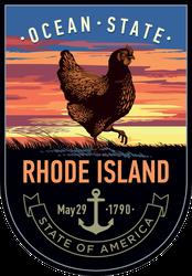 Rhode Island Banner Sticker