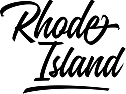 Rhode Island Script Sticker