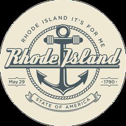 Rhode Island State Emblem Sticker