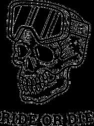 Ride Or Die Snowboard Skull Sticker