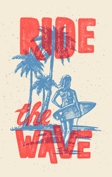 Ride The Wave Surf Sticker